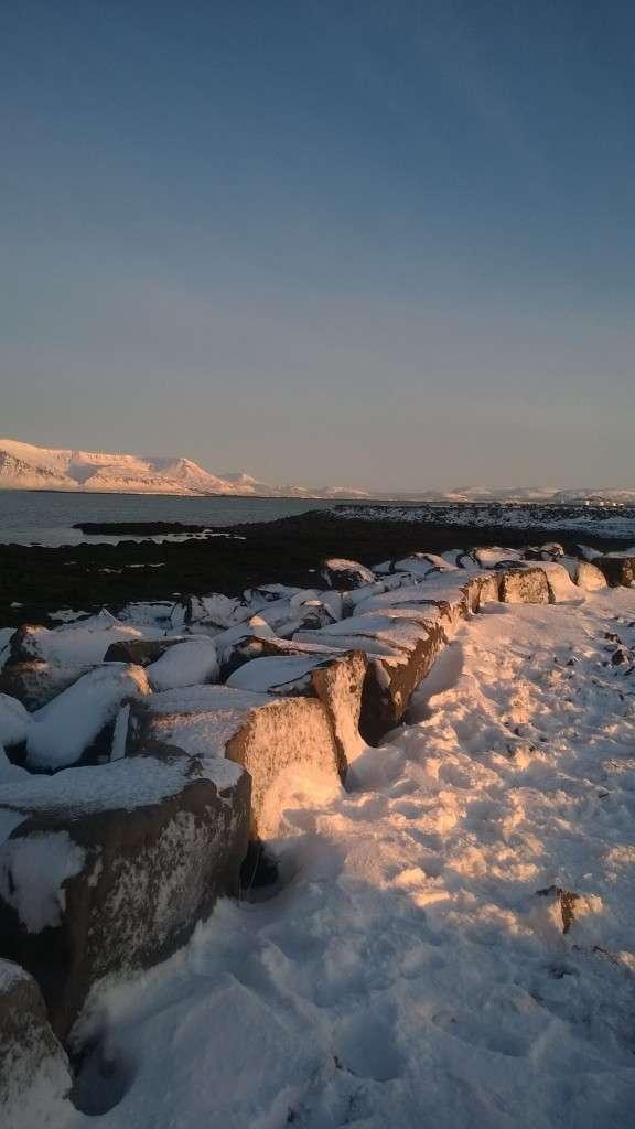 Reykjavík winter sunset, Iceland