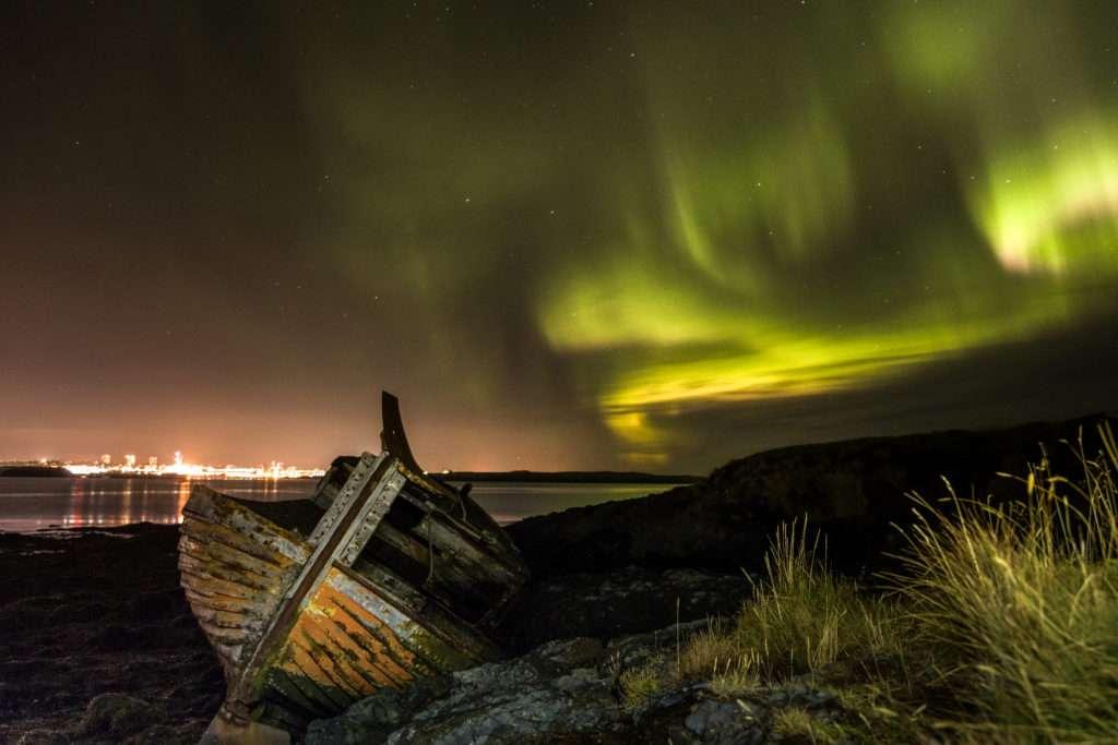 Northern lights, Reykjavík, Iceland