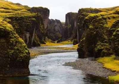 Fjaðrárgljúfur canyon entrance, Iceland