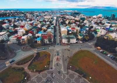 Reykjavík view from Hallgrimskirkja, Iceland