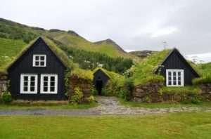 Turf houses in Skógar, Iceland