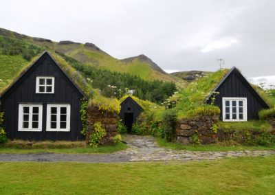 Turf houses in Skógar