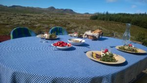 Outdoor breakfast, Thingvellir, Iceland