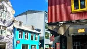 Colourful houses, Reykjavík city centre, Iceland