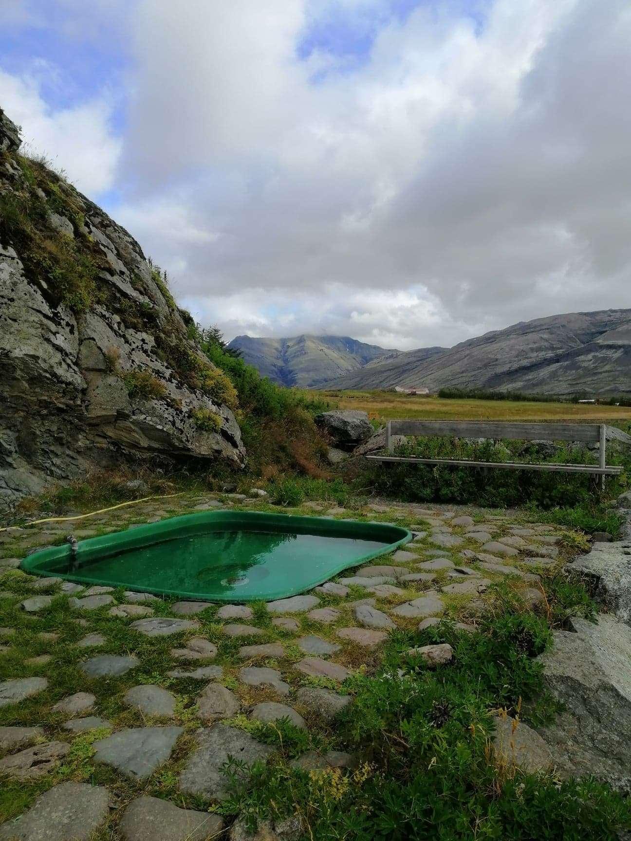 Hot geothermal pool, Iceland