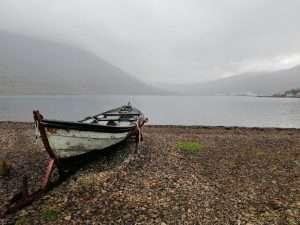 Rowing boat, Eastfjords, Iceland