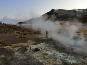 Geothermal area and steaming fumaroles, Iceland